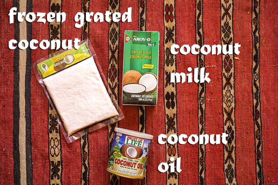 Coconut Milk Coconut Oil Grated Coconut