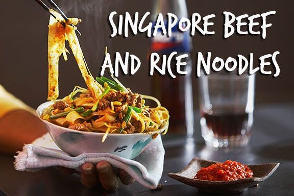 Singapore Beef And Rice Noodles