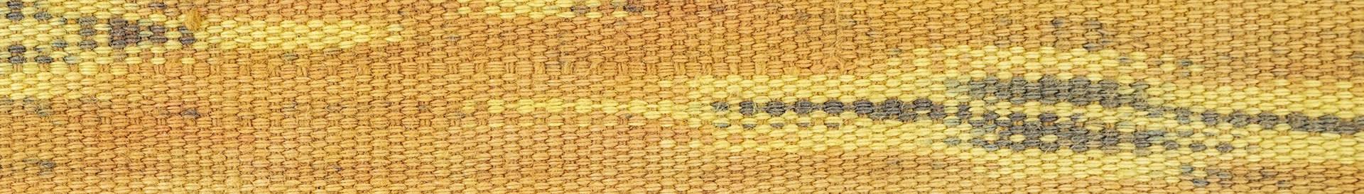 Tissu Motif Orange Jaune Et Gris