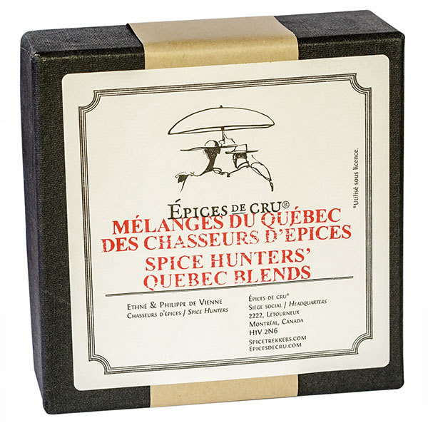 Spice Hunters' Quebec blends kit box