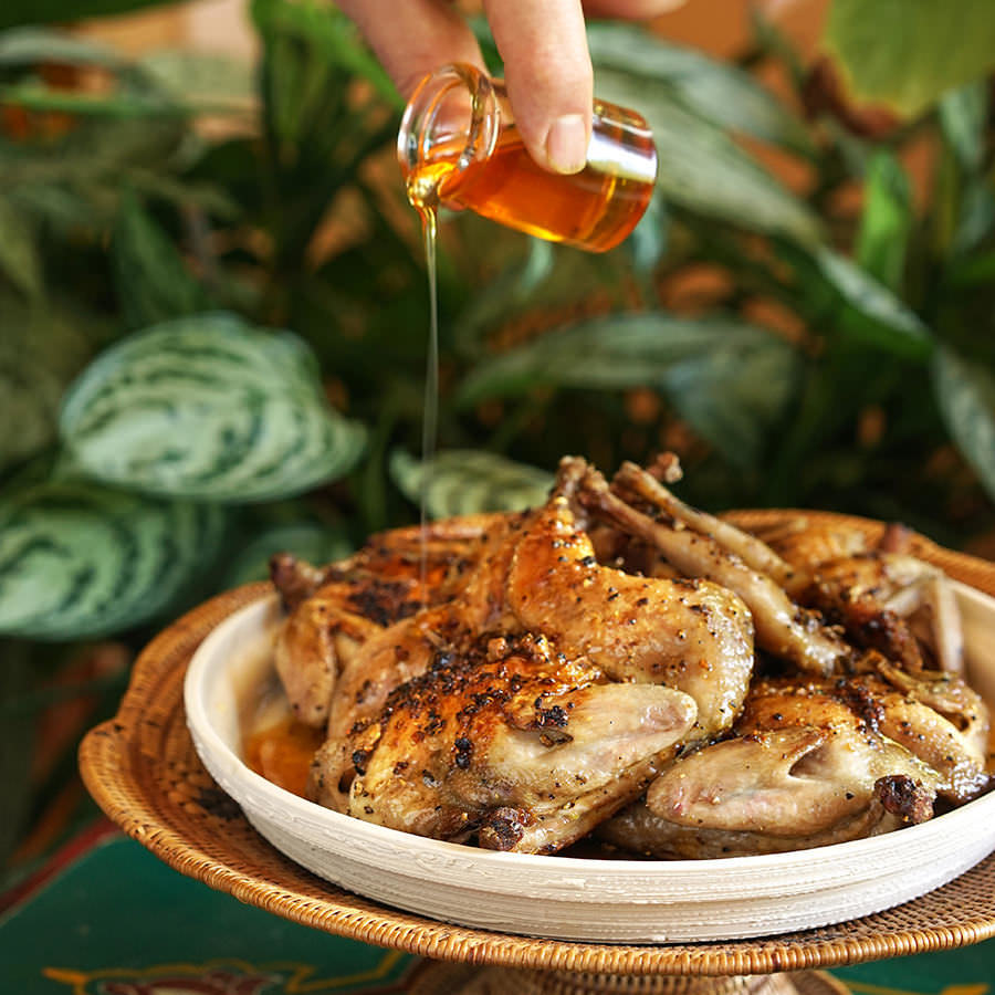 Quail with Honey and Sage