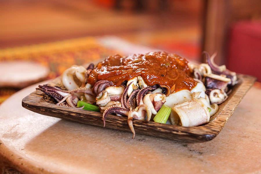 Balinese Style stir-fried Calamari