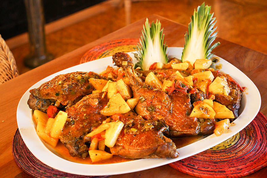 Caribbean Duck with Pineapple and Rum