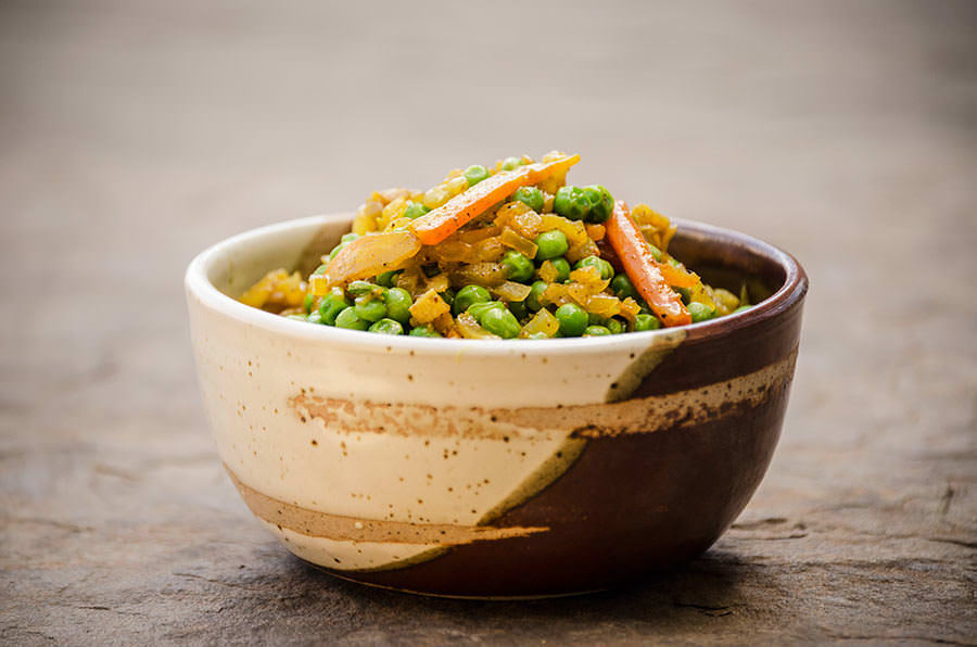 One thousand and one nights carrots and peas