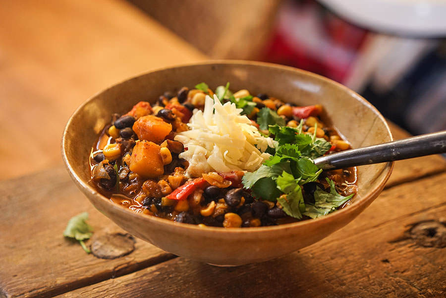 Three Sisters Vegetarian Chili