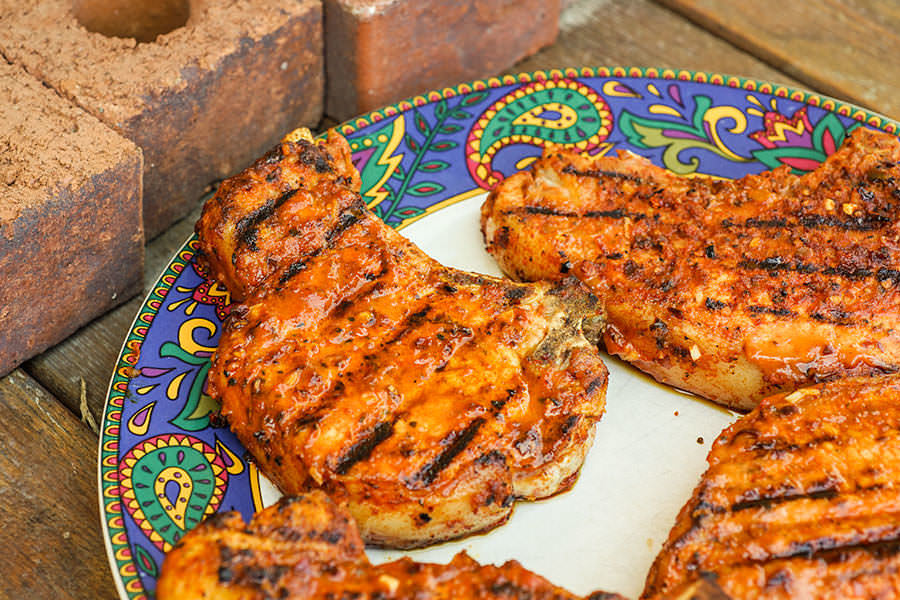 Cajun BBQ pork chops