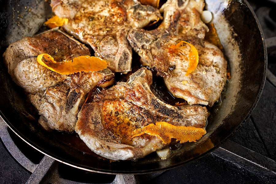 Pork chops with Fennel and Sage