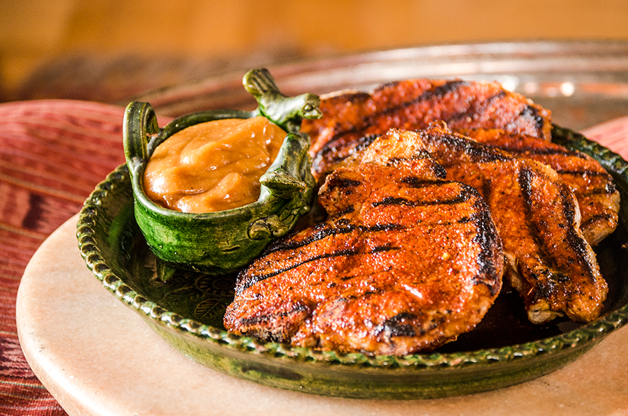 Cajun Pork Chops with Guava Aioli