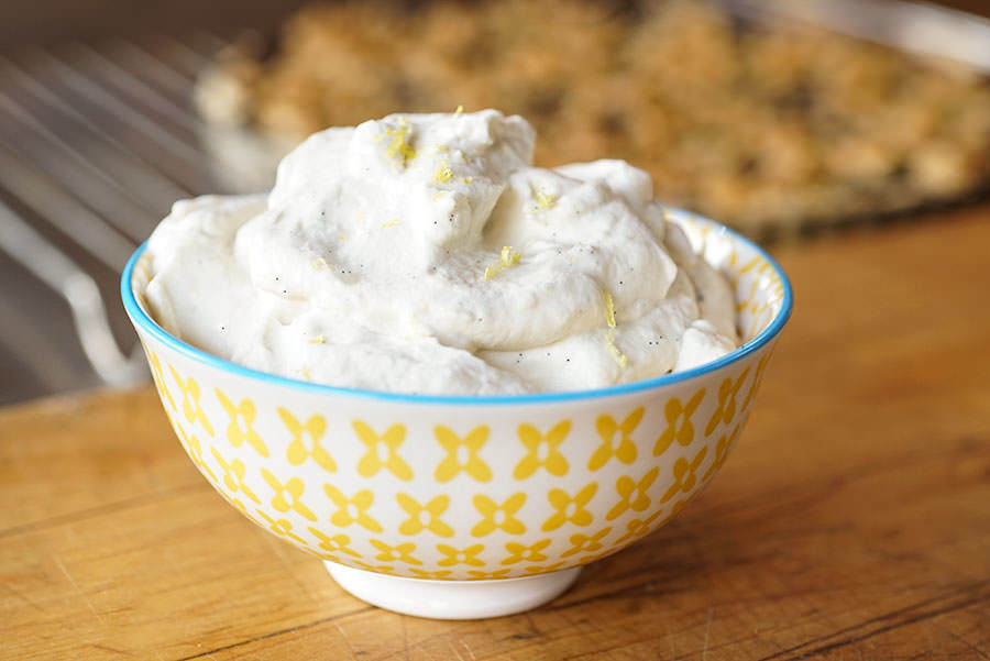 Lemon Vanilla Whipped Cream
