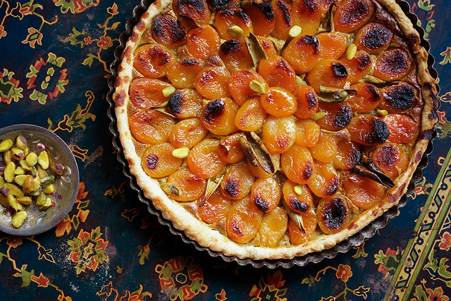Dry Apricot And Pistachio Tart
