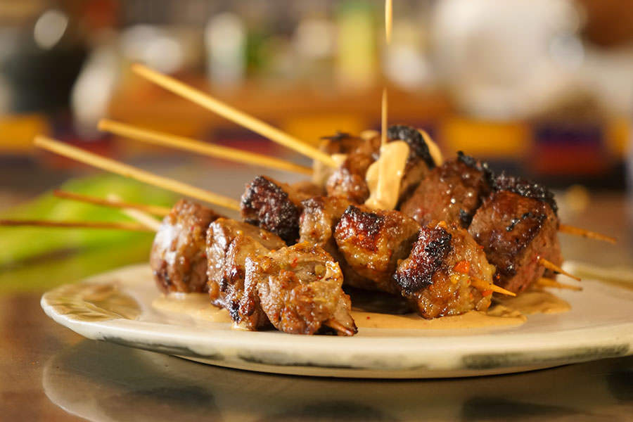 Duck Satay with Balinese spices