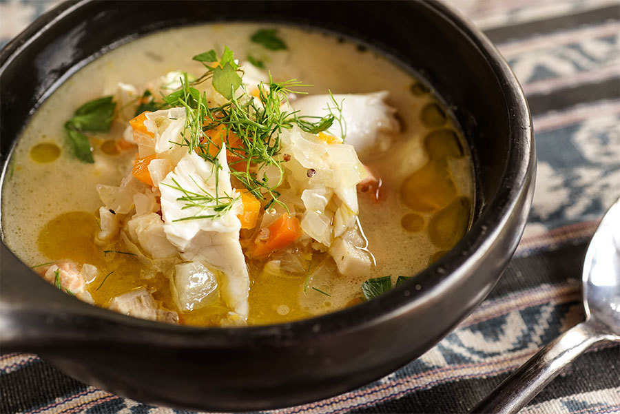 Fish Soup With Tahini