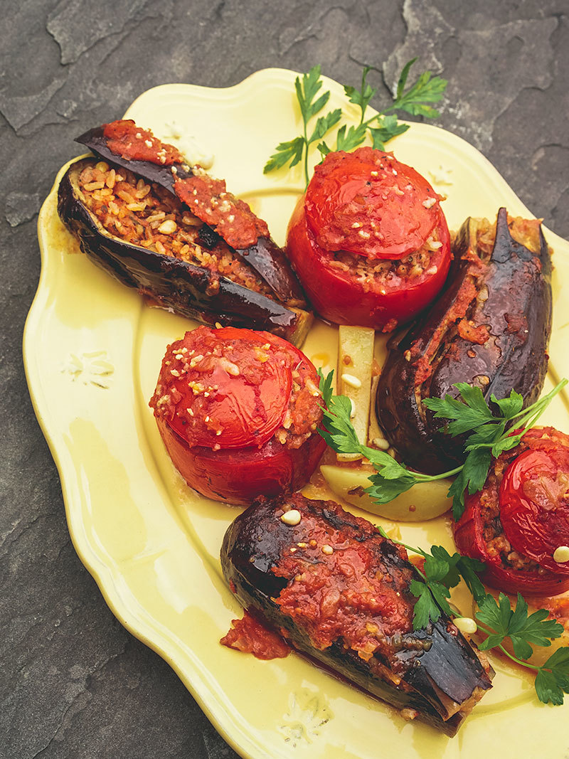 Gemista – Greek Stuffed vegetables with rice