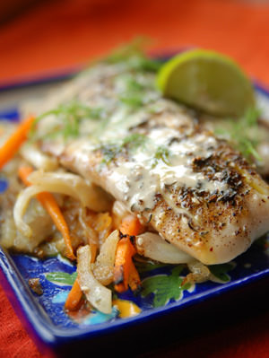 Grilled Fish with zaatar