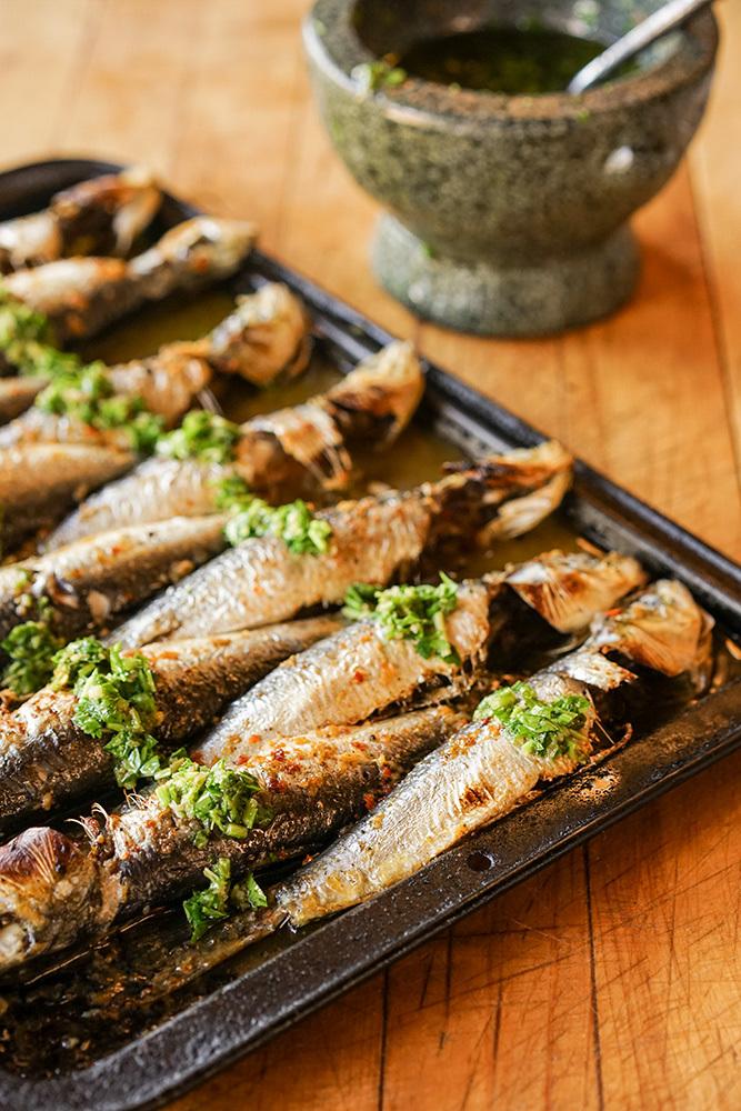 Grilled Peri Peri Sardines