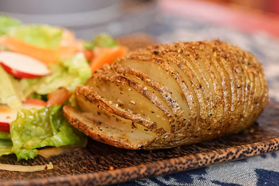 Hasselback Potatoes With Montreal Spice Rub