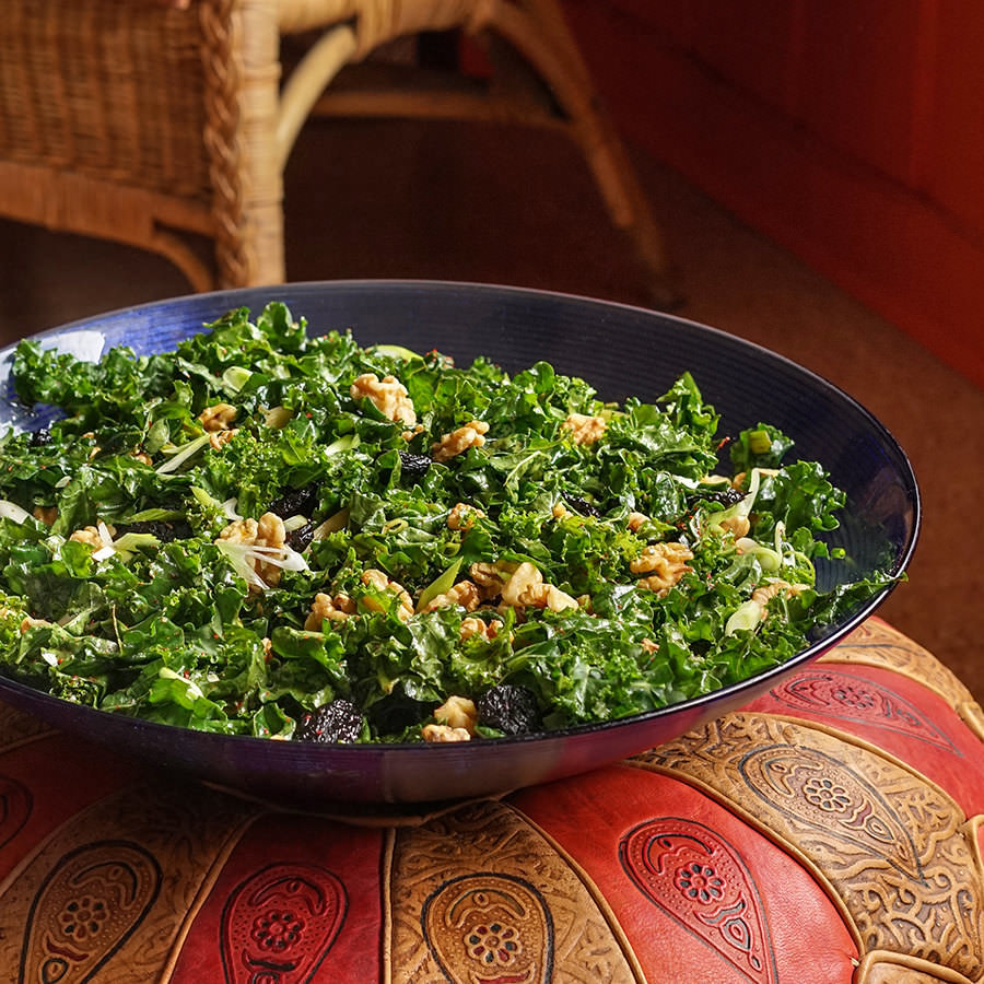 Kale Salad With Cherries And Walnuts