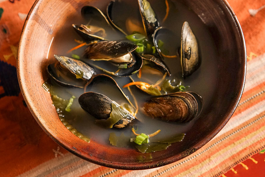 Kombu And Mussel Soup