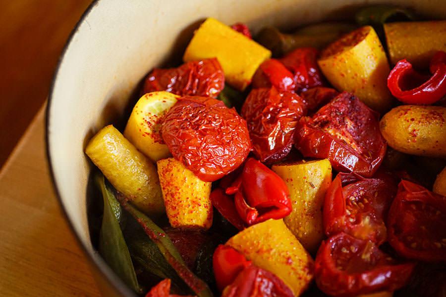 Vegetarian Tajine - Moroccan Braised Vegetables