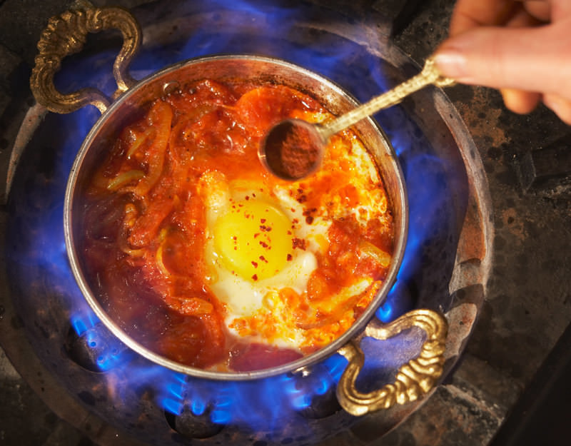 Menemen - Turkish vegetable and eggs