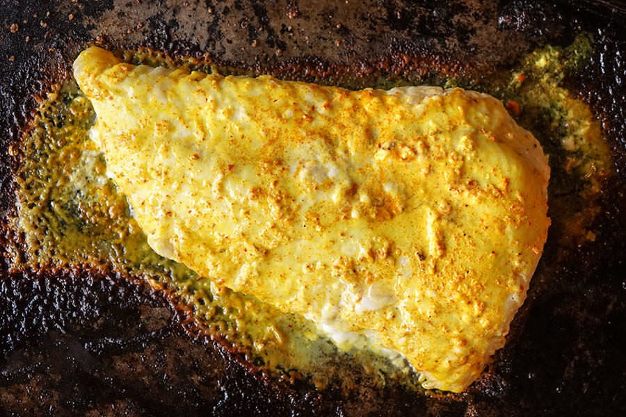 Grilled Cod with Sumatra Spices