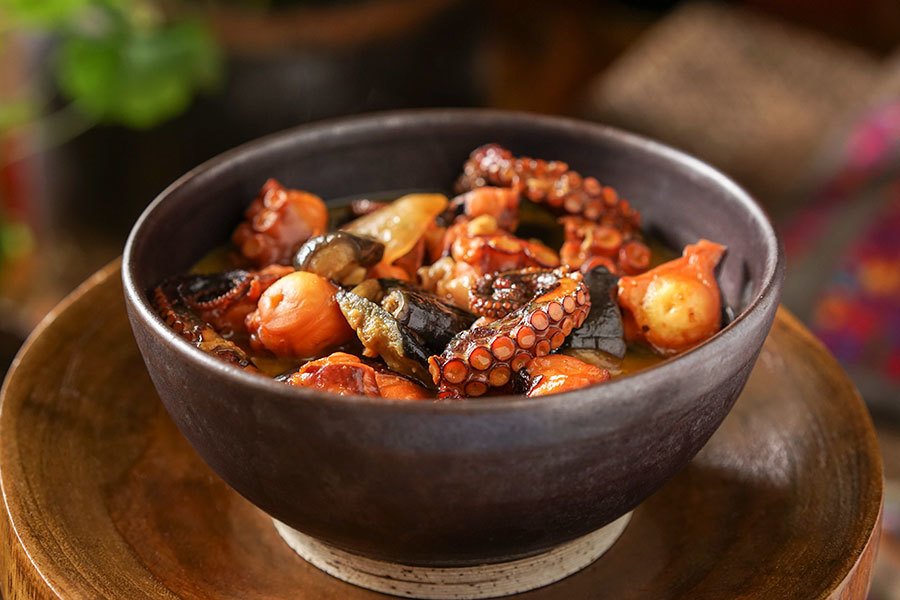 Octopus And Eggplant Curry