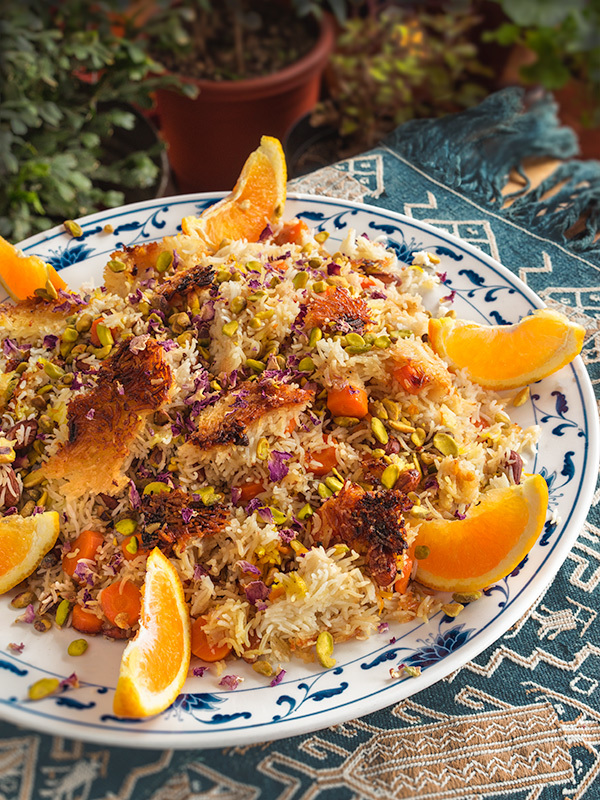 Orange And Carrot Pilaf