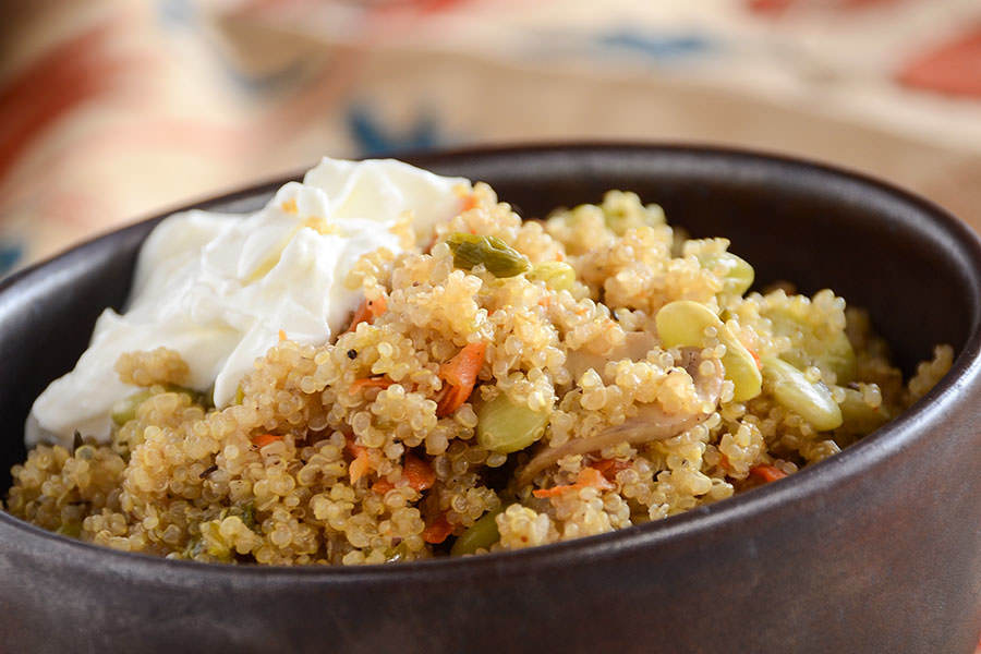 Quinoa and Lima Bean Pilaf