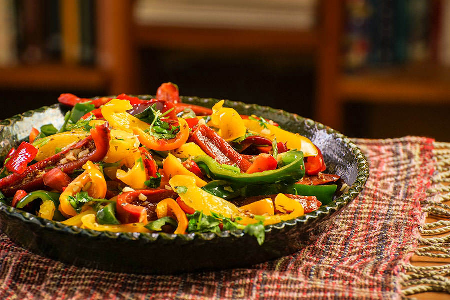 Peppers Sautéed with Cumin