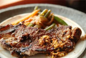 Pork Steak with Dionysios' Wild Herbs