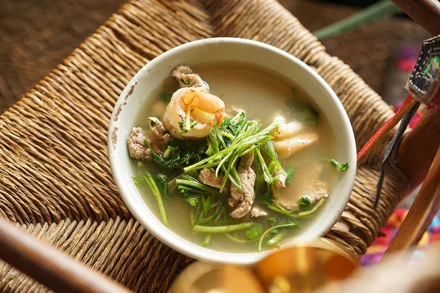 Pork Watercress And Shrimp Soup
