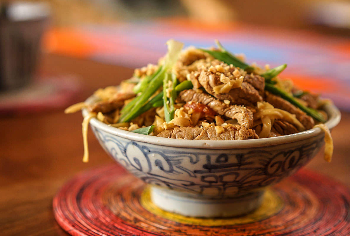 Pork And Peanut Chow Mein
