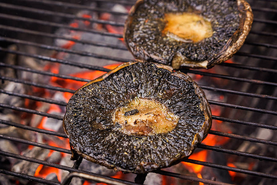 Portobello grilled with classic rub