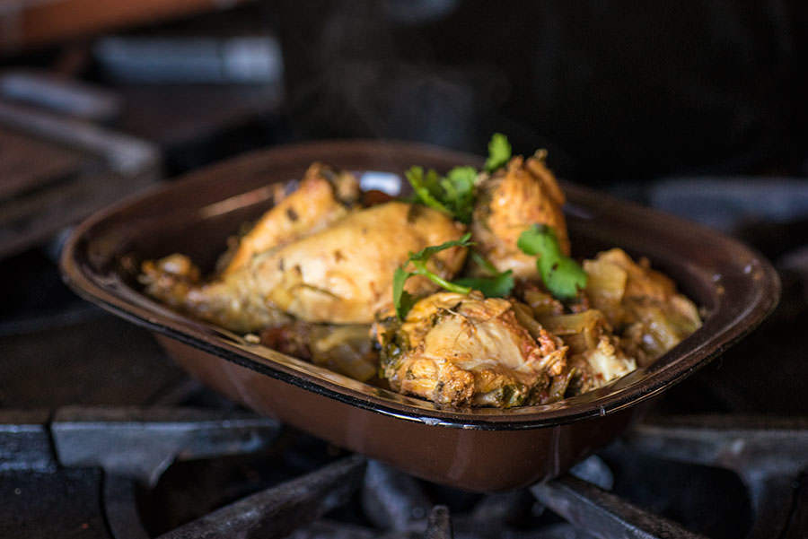 Slow cooker Pepper Cardamom Chicken