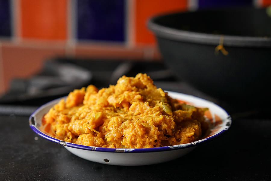Refried Sweet Potato