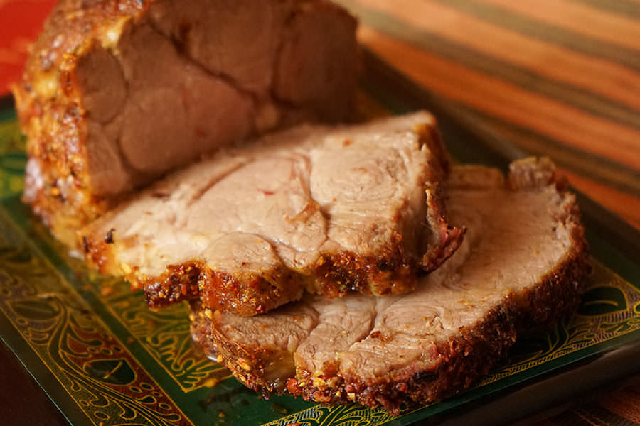 Roast pork with Bali Spices
