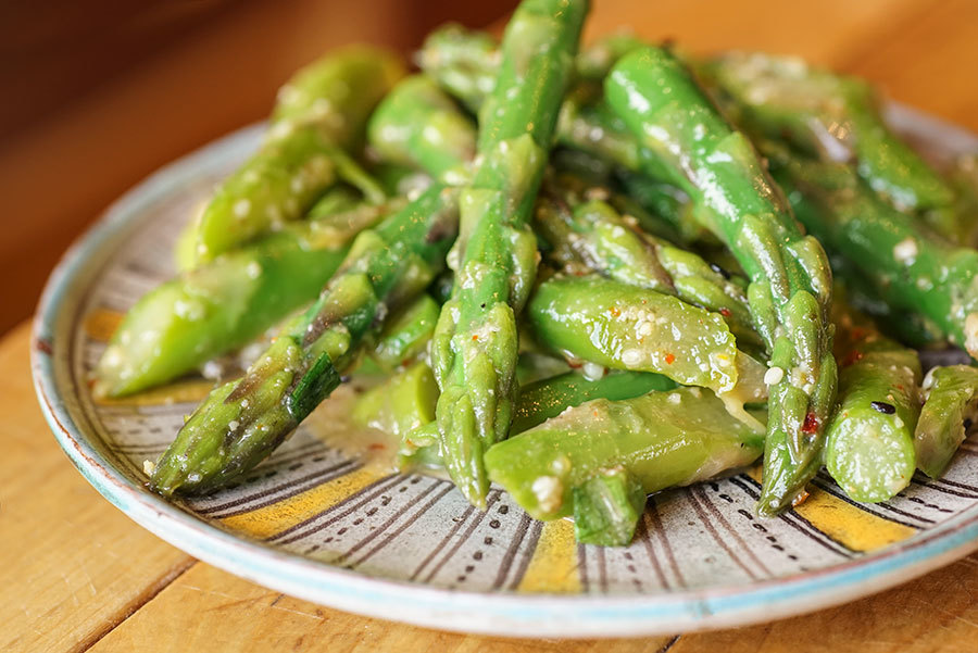 Asparagus Salad with Miso and Maple