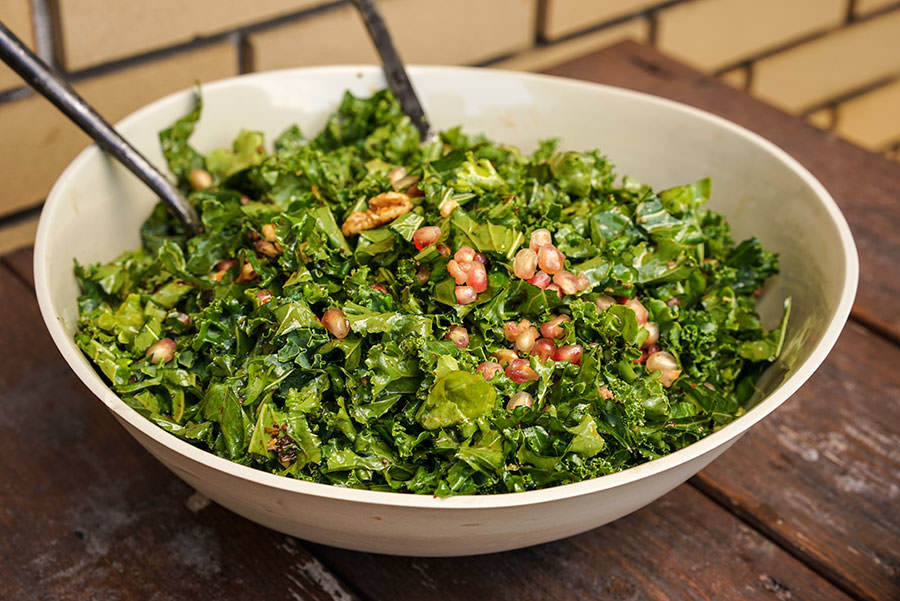 Kale Nut & Pomegranate Salad