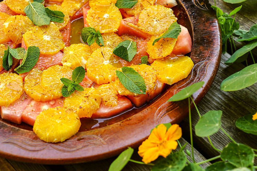 Watermelon and Orange Salad