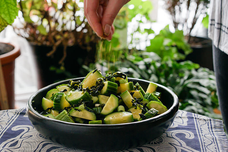 Wakame and Cucumber Salad