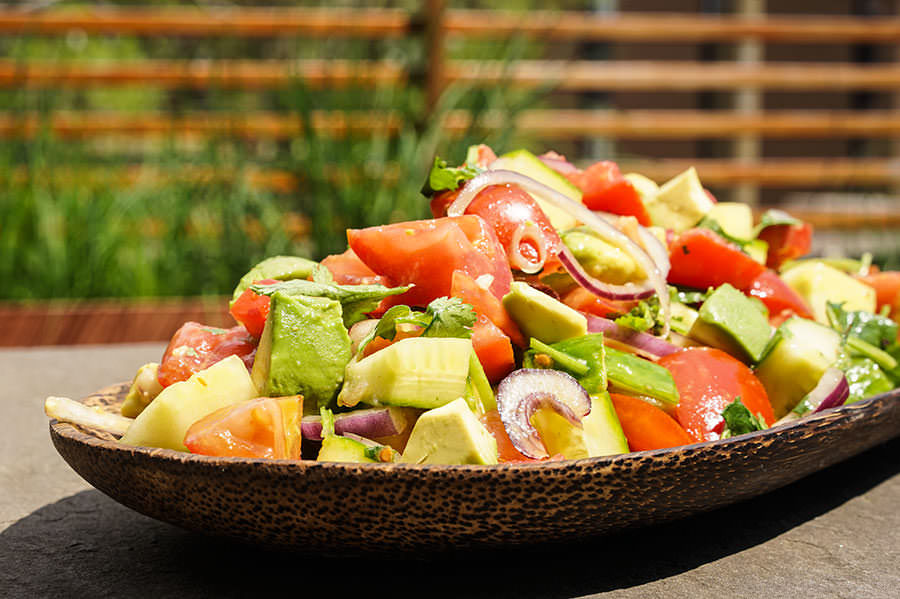 ''Thai'' Tomato and Avocado Salad