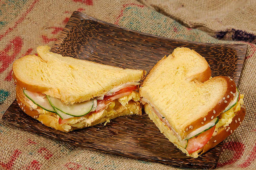 Red Curry Egg Sandwich