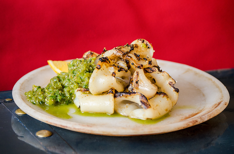 Satay Grilled Squid And Salsa