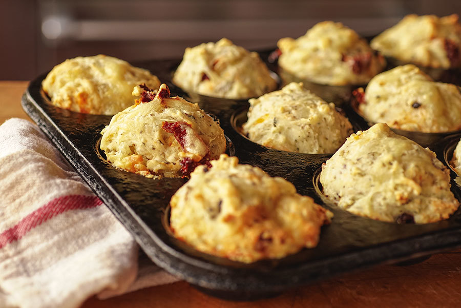 Savory Olive And Dried Tomato Muffins