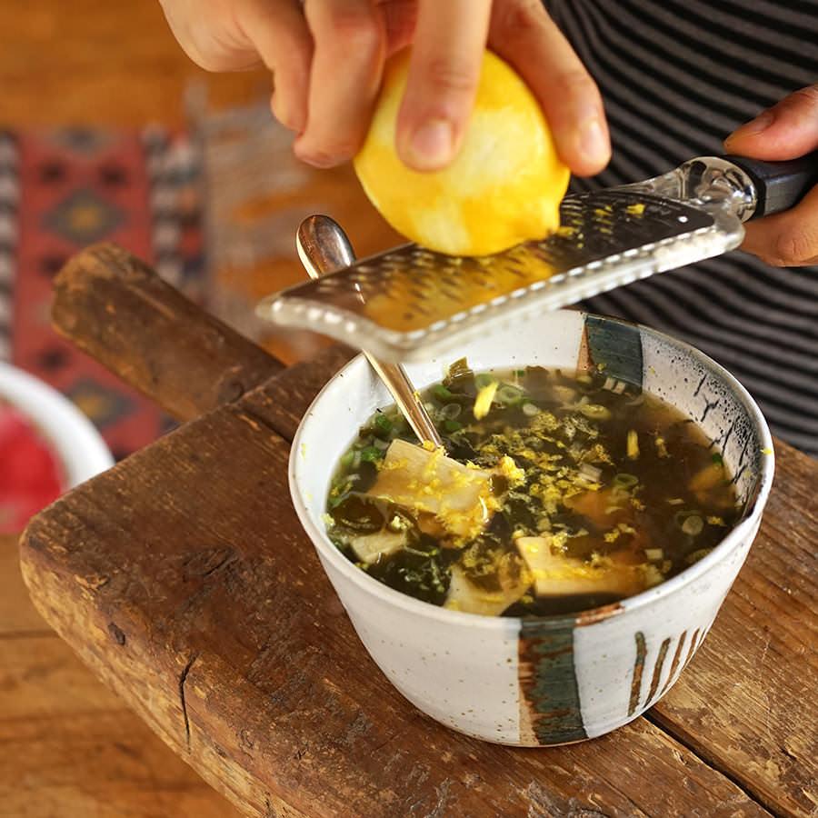 Wakame and mushroom soup