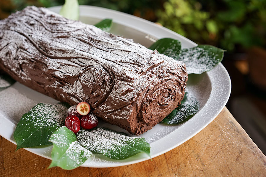 Spicy Chocolate And Cranberry Yule Log Meta