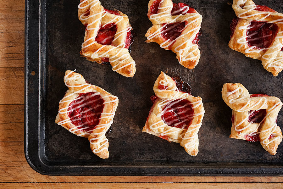 Strawberry Danish And Lemon Sansho Icing