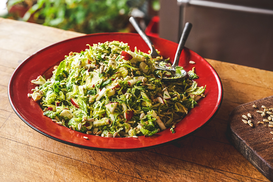 Sunflower And Brussel Sprouts Salad