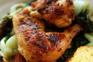 Tamarind Chutney-Roasted Cornish Hen
