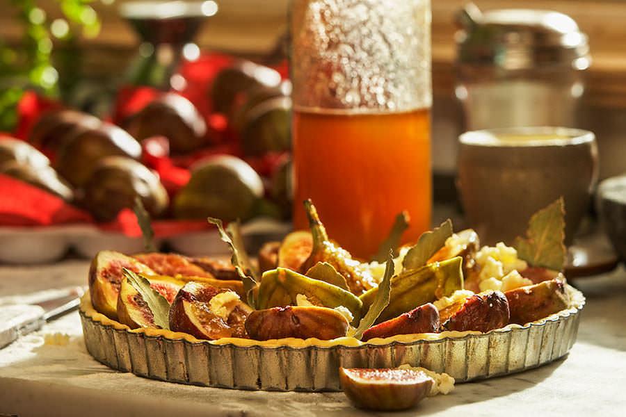 Fig, Pine Nut and Bay Leaf Tart